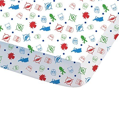 CTI - Lenzuolo con angoli stampati, per bambini, in cotone, 190 x 90 cm, colore: Bianco