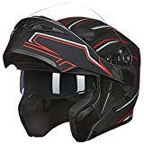 Full Face Motorcycle Helmet Dual Visor Sun Shield Flip up Modular Motocross DOT