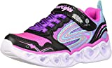 Skechers Heart Lights-Love Spark Tenis para niños, Multi (Negro/multi), 23.5 EU