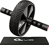 Yoga EVO Abdominal Trainer Kit - Ab Wheel + Knee Pad - Ab Trainer Fitness Equipment (Ab Wheel + Knee Mat Classic)