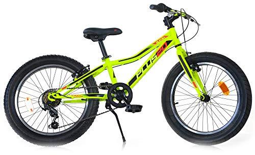 giordanoshop Bicicletta Fat-Bike Ragazzo 20 6V Aurelia MTB Plus Gialla