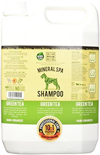 RELIQ Mineral SPA Shampoo for Dogs, 1-Gallon, Green Tea