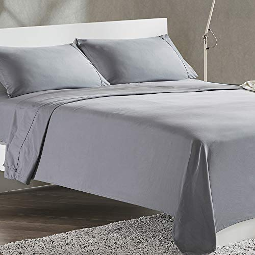 SLEEP ZONE 4-Piece Soft Cooling Bed Sheet Set...