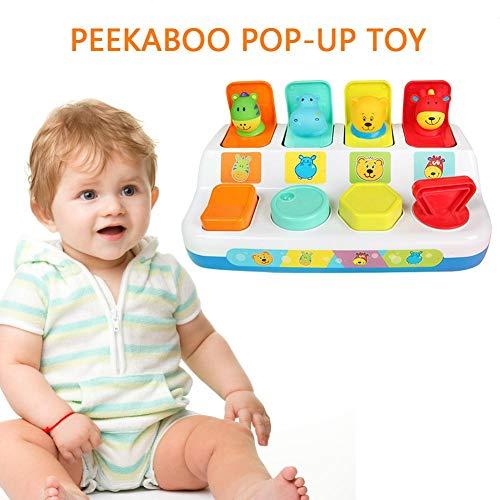 Rubyu leerspeelgoed voor peuters, activiteitsspeelgoed voor jonge kinderen, pop-up speelgoed kattenschakelaar box button box, 1-3 jaar oud