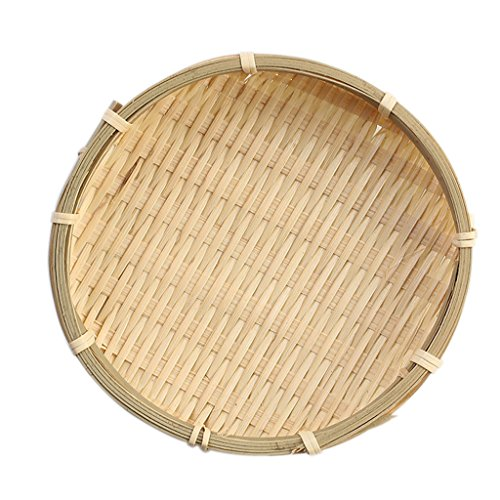 Colador De Bambú Tamiz De Bambú Estilo Chino Chino Harina De Malla Seive - 13 × 2 cm