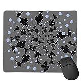 Mausunterlage, rutschfeste wasserdichte Gummibasis Mousepad für Laptop-Tauchen Black Fish