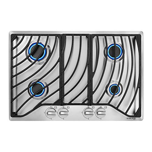 30-Built-in-Gas-Cooktop-GASLAND-Chef-GH1304SF-4-Italy-Sabaf-Sealed-Burner-Gas-Stovetop-30-inch-Drop-in-Gas-Range-Cooktop-28300-BTU-NGLPG-Convertible-Heavy-Duty-Cast-Iron-Grates-with-Metal-Knobs