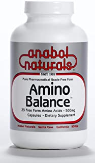 Amino Balance 240 caps, Amino Energy Supplement, Complete 23 FreeForm Amino Blend Formula with BCAA's, 9 Essential Amino A...