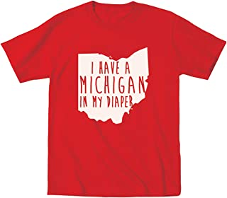 I Have A Michigan in My Diaper Ohio Football Funny Anti Hate M Classic OH IO Poop Dirty Child Humor Toddler Shirt