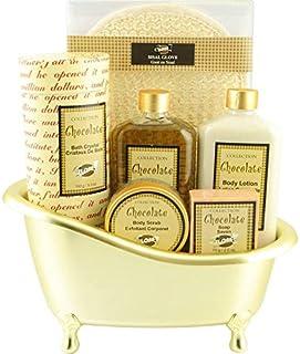 Gloss - Coffret cadeau de bain Pour Femme - Baignoire dorée - Collection Chocolate - Chocolat