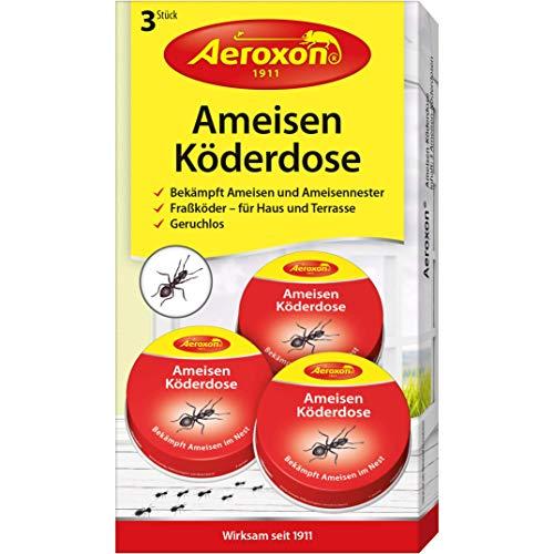 Aeroxon - Ameisen-Köder - bekämpft das ganze Ameisennest, 1er pack (3 stück)