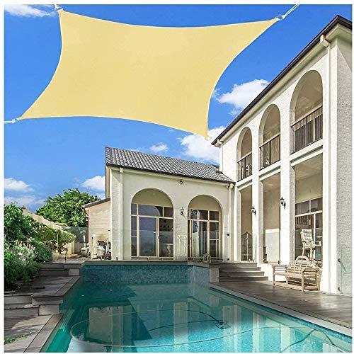 LanXin 4X2m Markise Sonnenschutz Garten Balkon und Terrasse wetterfeste atmungsaktiv Schatten, Markise Wasserdicht, Markise aus hochwertigem Polyester, Garten/Balkon, 3.6X3.6m -Anpassbare Größe