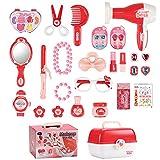yoliyogo Pretend Play Makeup Toy Beauty Cosmetic and Jewellery Set Box Princess Hair Dressing Up Kit Vanity...