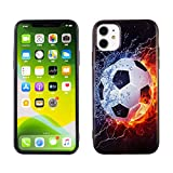 iPhone 11 Case Soccer on Water, IMAGITOUCH Anti-Scratch Shock Proof Case Soft Touch Slim Fit Flexible TPU Case Bumper Cover for iPhone 11 -Soccer on Fire Bumper