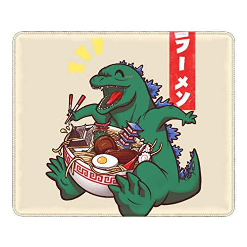 Gaming Mouse Pad Godzilla Ramenzilla Non-Slip Rubber Base Mouse Pads for Computers Laptop Office 12.01'X9.84'X0.02' Inch