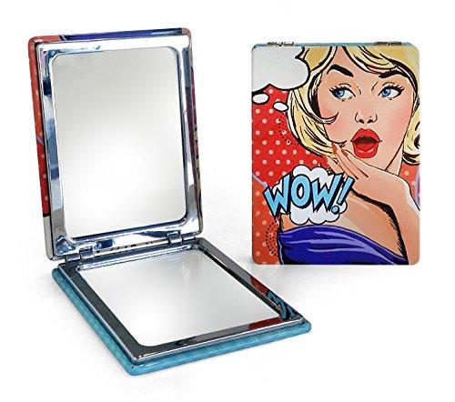 Miroir de poche PIN UP - Bleu