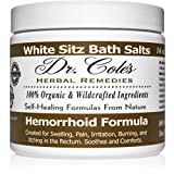 Dr. Cole's Hemorrhoid Sitz Bath Treatment: Organic, Herbal Bath Salts That Soothe Itching, Swelling and Pain Related to Hemorrhoids. Safe for All Ages. for Use in Small Sitz Bath Tub (White)