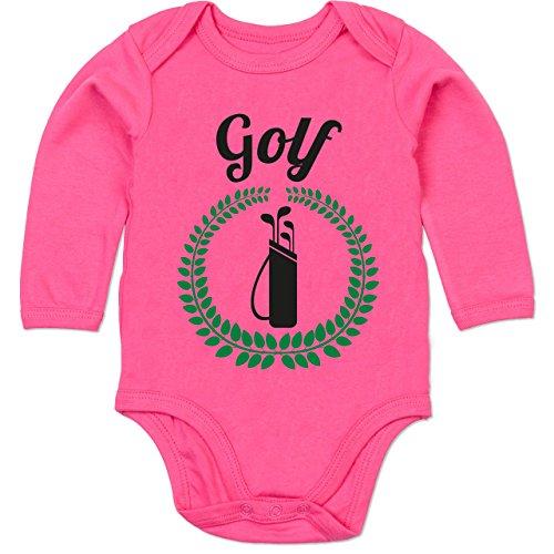 Shirtracer Lorbeerkanz Golftasche - 12/18 Monate - Fuchsia - Stil - BZ30 - Baby Body Langarm