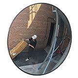 Se-Kure Domes & Mirrors TCVO-26T-PB Outdoor Acrylic Convex Mirror/3 Telescopic Mounting Brackets, 26' Diameter