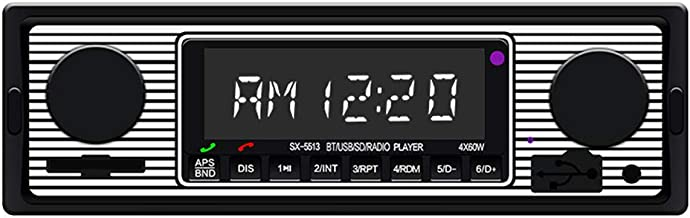 Accreate Bluetooth Vintage Car Radio MP3 Player Stereo USB AUX Classic Car Stereo Audio