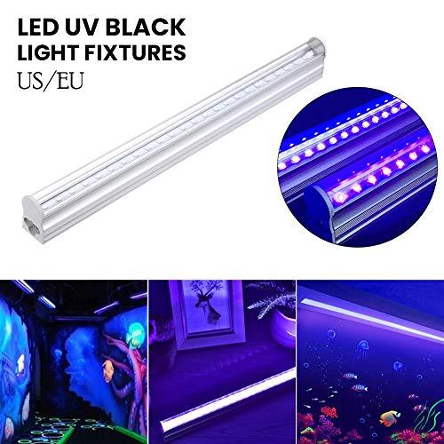 Luyao UV Led Schwarzlicht,Eleganted 5W UV Led Bar 24 Leds Ultraviolettes Licht,UV Led Röhre für Parteien Halloween Blacklight Poster Beleuchtung(EU Stecker)