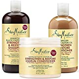 Shea Moisture Jamaican Black Castor Oil Combination Pack Strengthen, Grow & Restore Shampoo, 16.3 Oz, Conditioner 13 Oz. & Leave-In Conditioner16 Oz