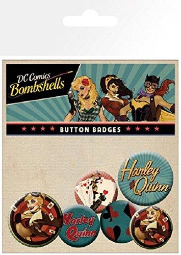 GB Eye LTD, DC Comics, Harley Quinn Bombshell, Set de Boutons