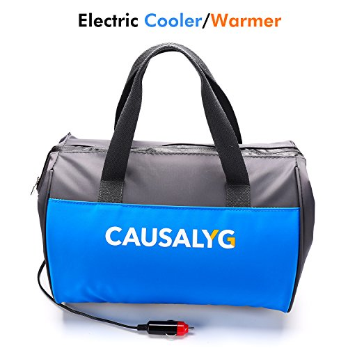 Argus Le Causalyg 12 Volt DC Soft Electric Car Cooler/Warmer Bag, Portable Car Refrigerator/Fridge with Thermoelectric System for Camping, Road Trip, Picnic - 18L Capacity