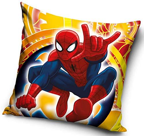 Spiderman Housse de Coussin, Multicolore, 40x40 cm