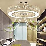 Deckenventilator Mit Beleuchtung Fan LED Deckenleuchte Moderne Licht Einstellbare Windgeschwindigkeit Leise Fernbedienung Dimmbar Ventilator Deckenlampe Büro Schlafzimmer Wohnzimmer Esszimmer Lampe