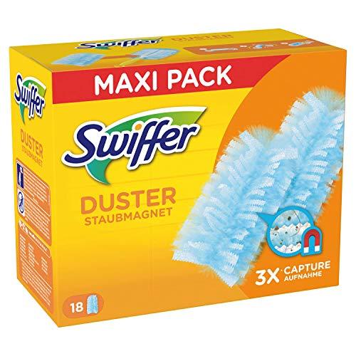 Swiffer Duster Ersatzbezug für Daunenjacke, 18 Teile, Kakturan und Intrappolano bis zu 3 Mal mehr Polen und Peli im Vergleich zu einer traditionellen Steppdecke