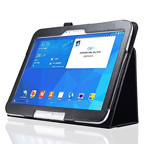LIUCHEN Funda de tabletaFunda de Cuero PU Premium para Samsung Galaxy Tab 3 10.1 GT-P5200 P5210 P5220 Funda Delgada para Samsung Tab4 10 SM-T530 T531 T535, Negro, Tab 3 10.1 GT, P5200