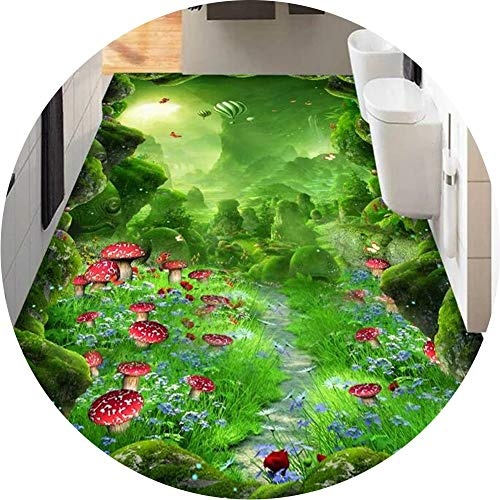 ZRUYI Long Runner Rugs For Hallway Area Rugs Corridor Carpet 3D Nature Scene Design Apply To Kitchen Bedroom Bathroom, Customize Size (Color : A, Size : 1.3x6m)