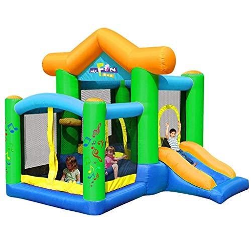 WRJY Kind Aufblasbares Schloss, Kinderrutsche Aufblasbares Schloss Outdoor Home Square Indoor Kleines aufblasbares Trampolin Kinder, Grün, 250 * 270 * 220 cm