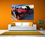 wandmotiv24 Wandbild Ferrari in Action Selbstklebende Folie