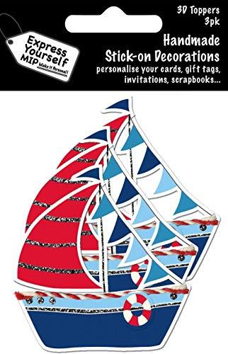 EXPRESS YOURSELF MIP, selbstklebend, Segelboot Multi Pack Topper–Ideal für Grußkarten, Geschenkverpackungen, Scrapbooks, Skizzenbuch, Papierbastelei etc.
