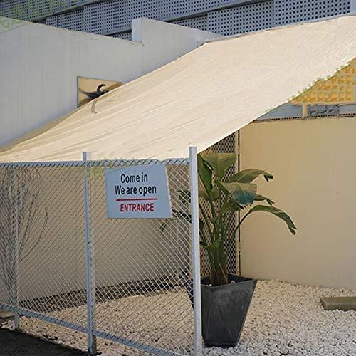 Mallas De Sombreo Jardin 90% Tasa de sombreado Beige Borde de perforación habitación del Cielo de Sun Patio Invernadero, 23 Tamaños (Color : Beige, Size : 3x6m)