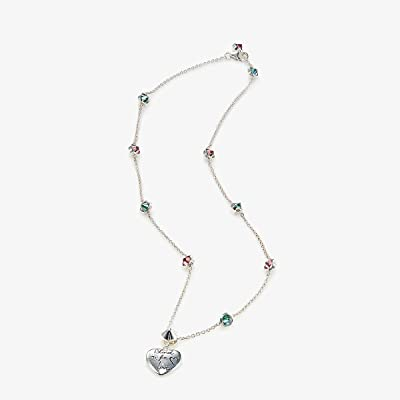 Gucci Blind for Love Necklace (Silver/Green/Red) Necklace
