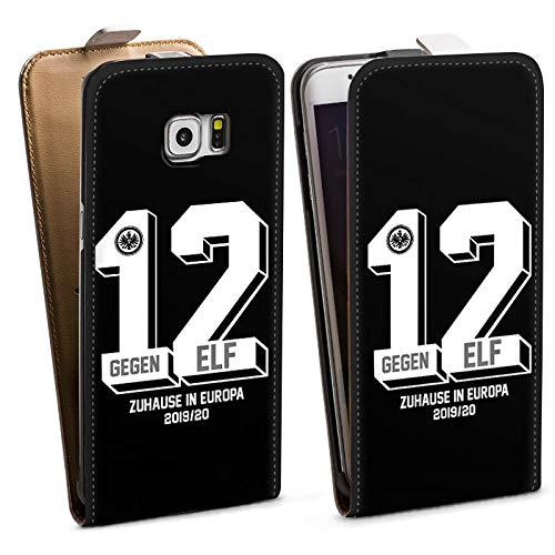 DeinDesign Tasche kompatibel mit Samsung Galaxy S6 Edge Plus Flip Case Hülle Eintracht Frankfurt Offizielles Lizenzprodukt Spruch