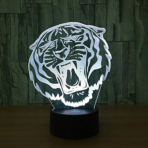 kop, 3D, nachtlampje, creatief, decoratief, deaklamp, energiebesparing, cadeau, USB, LED, kleurverandering, lamp