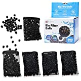 ELIVING 500ct Bio Balls -5 Rustproof Mesh Bags Included - Create Good, Pure Bacteria with our Large Opening Bio Filter Media Supplies – Perfect Bio Balls for Pond Filter or Fresh Water Marine Aquarium