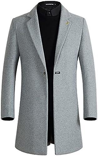 Les Hommes de Manteaux de Fourrure de la Mode et Coupe - Vent Style Manteau en Laine à Long,gris,M