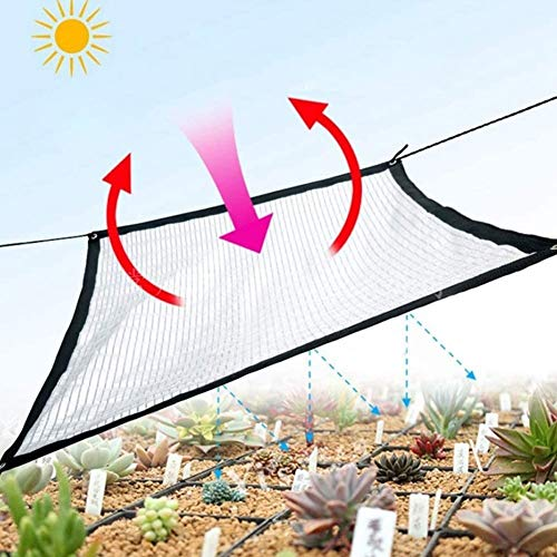 DXQDXQ Outdoor Size Optional Anti UV Sunshade Net Square Rectangle Sun Shade Sail Silvery Aluminum Foil Outdoor Garden Patio Yard Lawn Sunscreen Awning Canopy Sun Sail Plant Cover Shelter Anti-UV