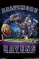 "Trends International NFL Baltimore Ravens - End Zone, 22.375"" x 34"", Unframed Version"