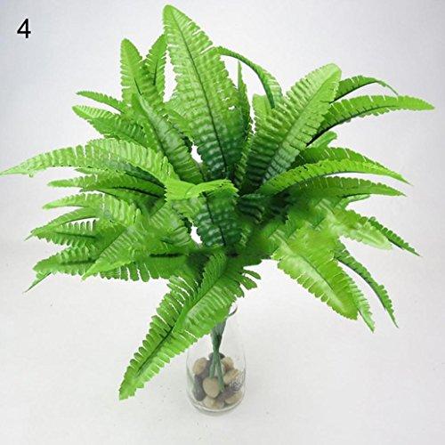 Quanjucheer - Plante artificielle, arbuste à feuilles toujours vertes (1 pièce) - Décoration d'intérieur ou d'extérieur, de jardin, de bureau, en toutes saisons, Plastique, N°4, 35 cm