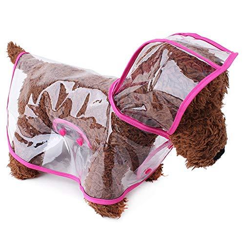 Hankyky Hund Wasserdichte Regenjacke, Puppy Transparent Poncho Jacke Pet Regenbekleidung Regenjacke Kleidung für kleine Hunde/Katzen