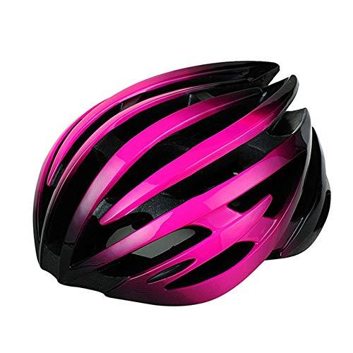 ILKJ Casco de Bicicleta Hombre, Mujer MTB Casco de Ciclo Negro Rosa,...