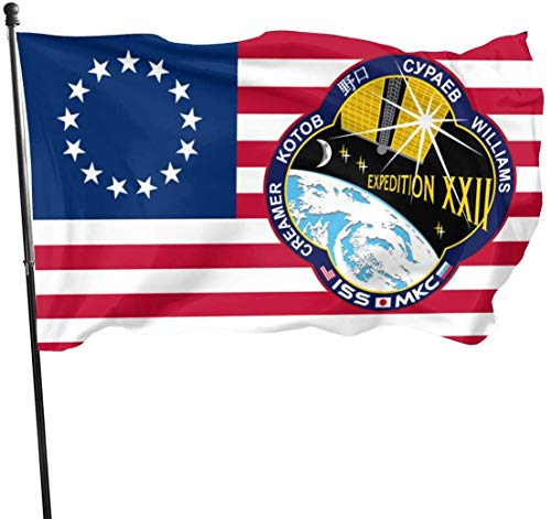 anemone store Amerikanische Fly Breeze 3 x 5 Fuß Flagge - Expedtion 22 Crew Patch