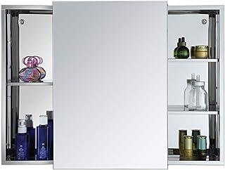 Vobajf Armoires avec Miroir Miroir Salle de Bains médecine Armoire Murale Organisateur Armoire de Rangement Armoires Miroi...