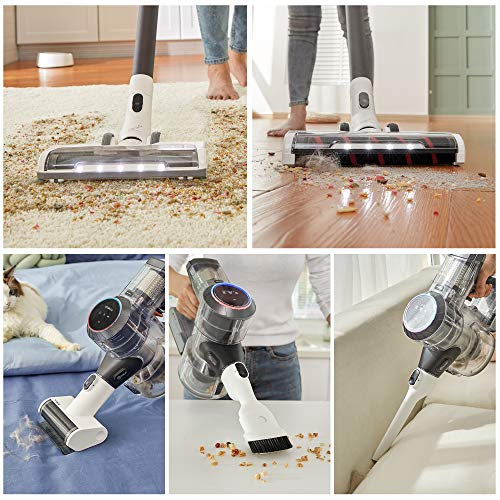 Tineco Pure ONE S11 Tango Smart Cordless Stick Vacuum, 22KPA Strong Suction Ultra-Quiet Operation, Lightweight Handheld with LED Power Brush for Hard Floors Carpet Pet Hair